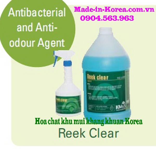 Hóa chất khử mùi kháng khuẩn Korea Reek Clear