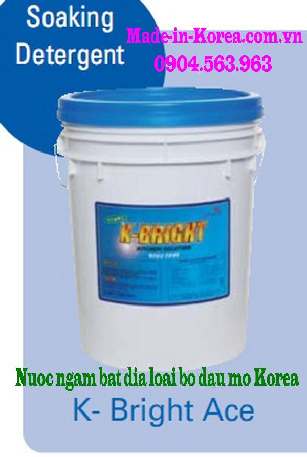 Nước ngâm bát đĩa loại bỏ dầu mỡ Korea K Bright ACE