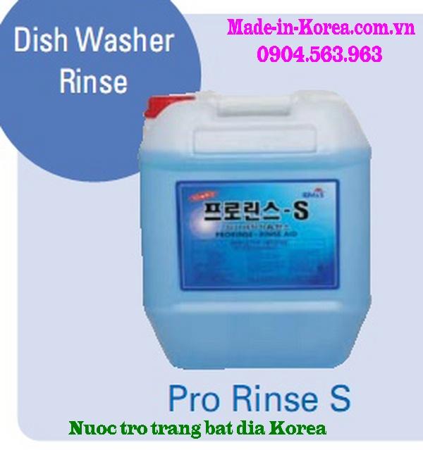 Nước trợ tráng bát đĩa dành cho máy rửa bát đĩa Korea Pro Rinse S