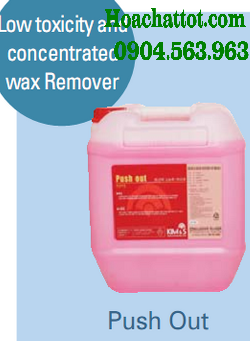 Low toixicity and concentrated wax remover Push Out